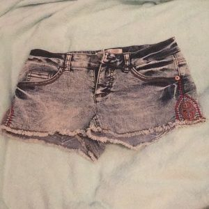 Designed Denim Shorts